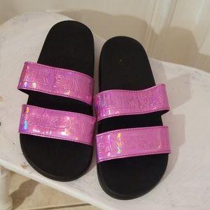 Pink by Victoria's secret slides